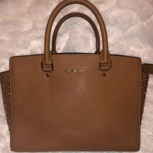Michael Kors Cognac Tan Brown Purse Handbag
